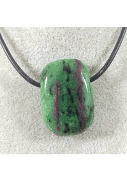 RUBY ZOISITE Anyolite Pendant Gemstone - ARIES LEO Crystal Healing MINERALS A+-1