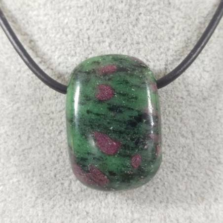 RUBY ZOISITE Anyolite Pendant Gemstone - ARIES LEO Crystal Healing MINERALS A+-2