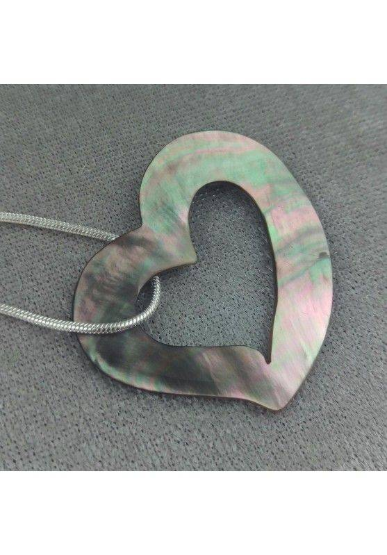 Mother of Pearl Pendant HEART - Zodiac: CANCER Crystal Healing Zodiac Gift Idea−3