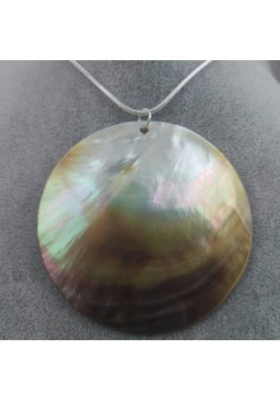 Mother of Pearl Pendant Moon - CANCER Crystal Healing Zodiac Shell Voyage-1