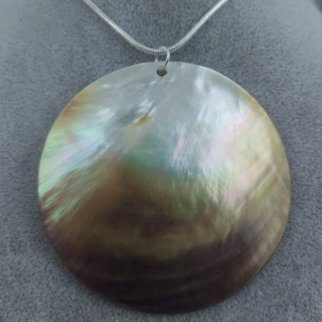 Mother of Pearl Pendant Moon - CANCER Crystal Healing Zodiac Shell Voyage-2