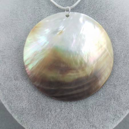 Mother of Pearl Pendant Moon - CANCER Crystal Healing Zodiac Shell Voyage-4