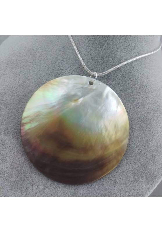 Mother of Pearl Pendant Moon - CANCER Crystal Healing Zodiac Shell Voyage-5