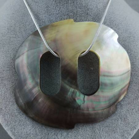 Mother of Pearl Pendant Special - CANCER Zodiac Crystal Healing Shell-2