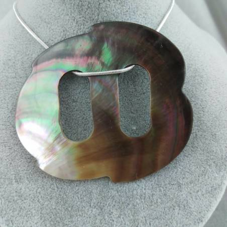 Mother of Pearl Pendant Special - CANCER Zodiac Crystal Healing Shell−3