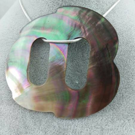 Mother of Pearl Pendant Special - CANCER Zodiac Crystal Healing Shell-4