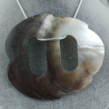 Mother of Pearl Pendant Special - CANCER Zodiac Crystal Healing Shell-5