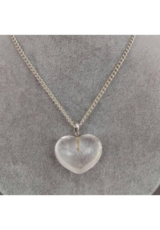 Hyaline Quartz Pendant HEART Sterling Silver 925 AQUARIUS Charm Necklace Charm-2