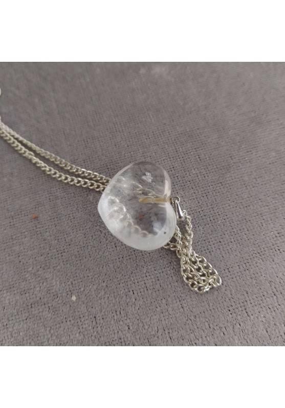 Hyaline Quartz Pendant HEART Sterling Silver 925 AQUARIUS Charm Necklace Charm-4