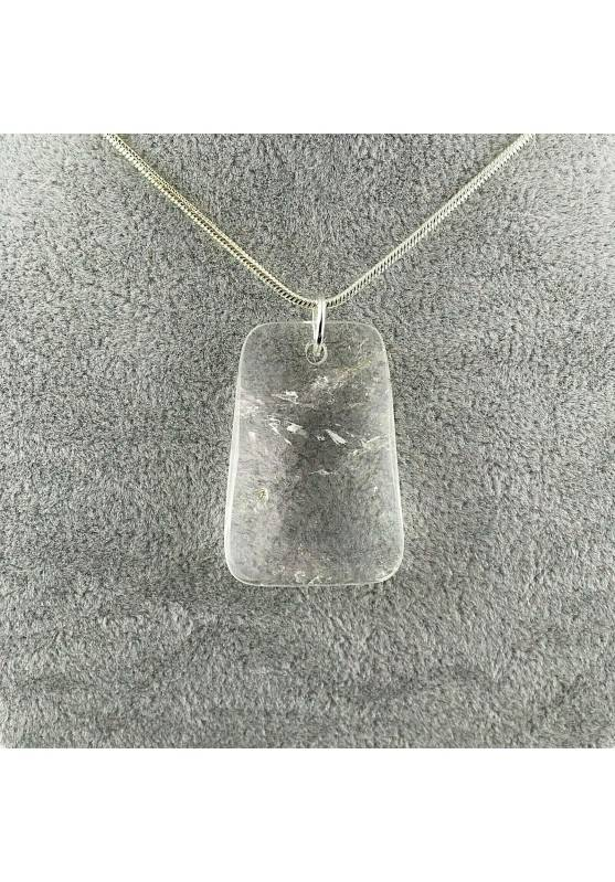 Hyaline Quartz Pendant Faceted - AQUARIUS Necklace Charm Charm-1