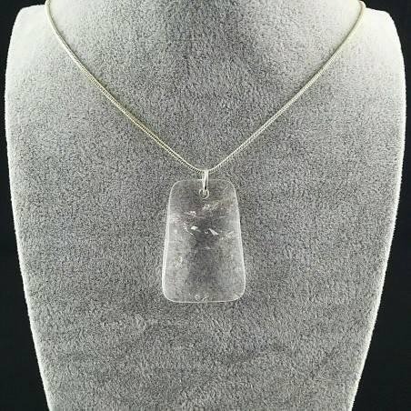 Hyaline Quartz Pendant Faceted - AQUARIUS Necklace Charm Charm-2