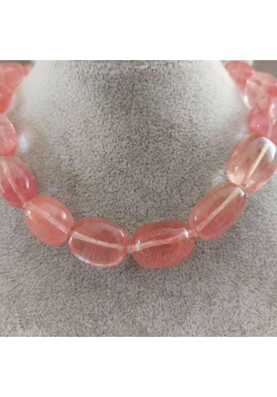 Rose Quartz Necklace PEARL - LIBRA TAURUS CAPRICORN MINERALS Crystal Healing-2