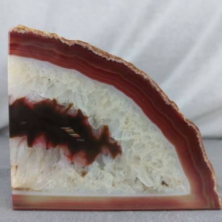 GEODE in CARNELIAN AGATE Paperweight Special Polished Minerals Home A+-1
