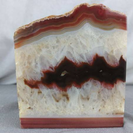 GEODE in CARNELIAN AGATE Paperweight Special Polished Minerals Home A+-2