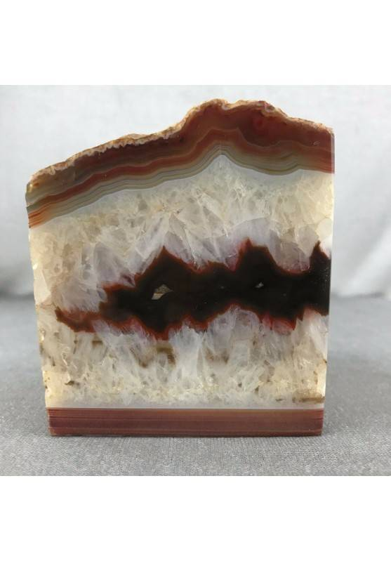 GEODE in CARNELIAN AGATE Paperweight Special Polished Minerals Home A+−3