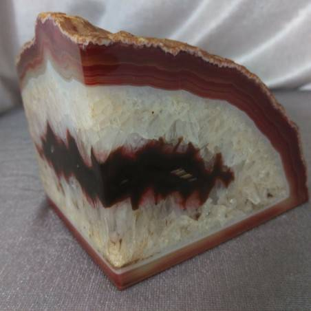 GEODE in CARNELIAN AGATE Paperweight Special Polished Minerals Home A+-7