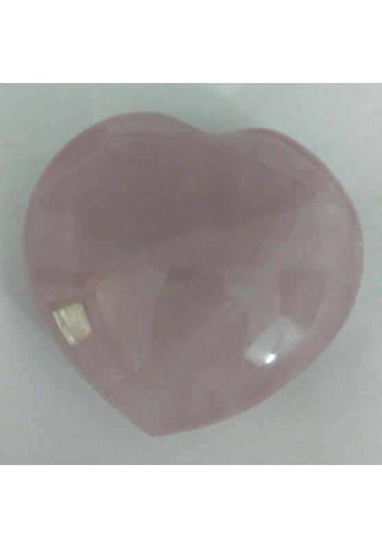 Cuore ARTIGIANALE in Quarzo Rosa GRANDE 258g Lavorato a Mano Minerali Cristalli-1