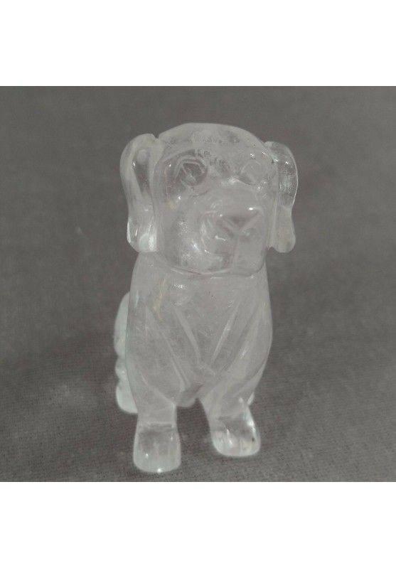 Hyaline Quartz Rock Crystal Dog BIG Size Crystals ANIMALS Crystal Healing Gift Idea A+-1