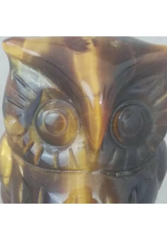 Owl in TIGER'S EYE BIG Minerals ANIMALS in Stone MINERALS Casa-5