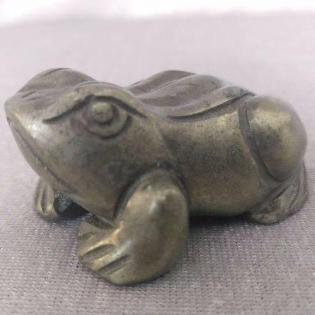 Frog BIG Pyrite Crystals Specimen Minerals ANIMALS MINERALS Gift Idea 156G-2