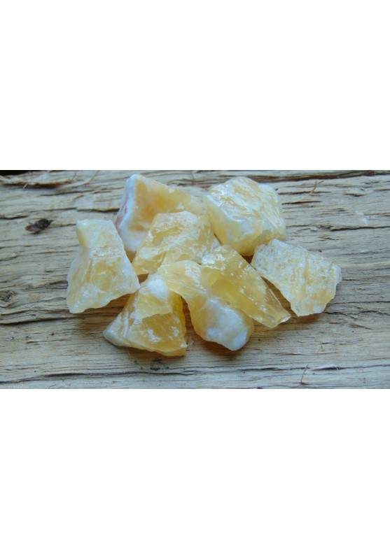 Calcite Gialla Grezza Cristallo Minerale Chakra Gemma Cristalloterapia Pietra A+-1