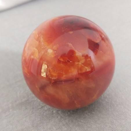 Sfera GRANDE di DRUSA Agata Corniola CRISTALLIZZATA Quarzo Minerali Palla Pietra-2