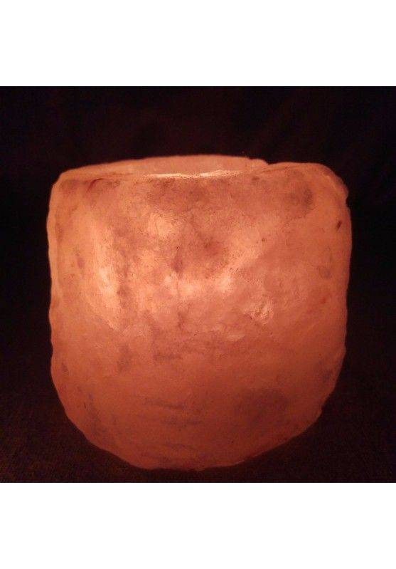 Himalayan Salt Candle Holder Tea Light Candle Holder Reiki Chakra Healing Stone -1