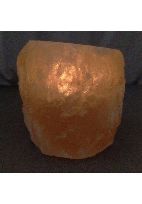 Himalayan Salt Candle Holder Tea Light Candle Holder Reiki Chakra Healing Stone -4