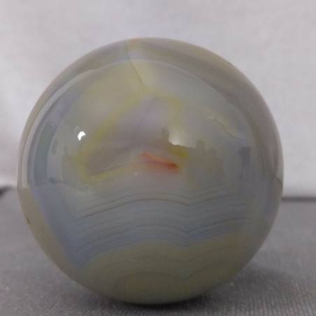 BIG Sphere in Grey AGATE & CARNELIAN Tumbled Stone QUARTZ MINERALS Ball Stone-5