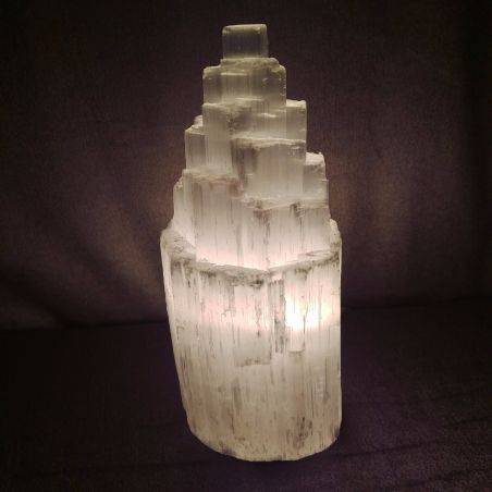 Rough SELENITE Crystal LAMP Mountain in High Quality - MINERALS Minerals-2