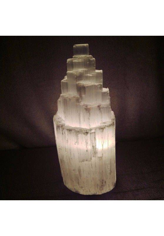Rough SELENITE Crystal LAMP Mountain in High Quality - MINERALS Minerals−3