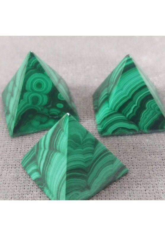 PYRAMID in True MALACHITE Natural del Congo MINERALS Chakra Crystal Healing-1