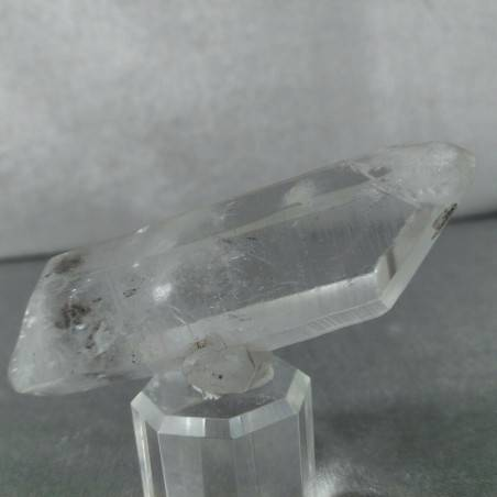 Double Terminated Himalayan Quartz Rough Crystal with Tourmaline Inclusion-2