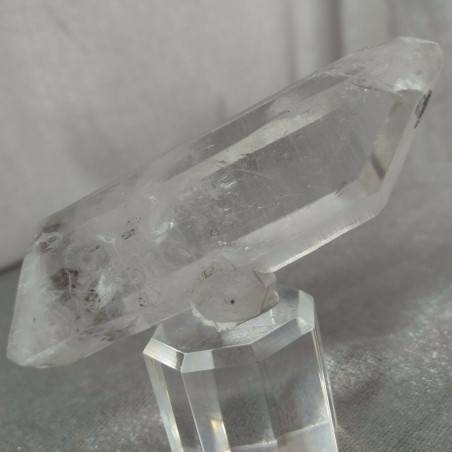 Double Terminated Himalayan Quartz Rough Crystal with Tourmaline Inclusion−3