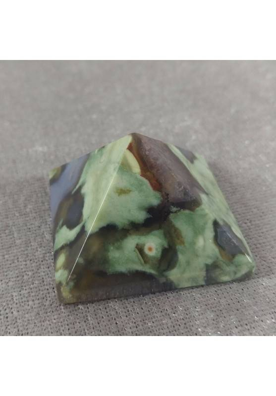 PYRAMID in AGATE Natural Point Statue MINERALS Crystal Healing Chakra Wicca-1