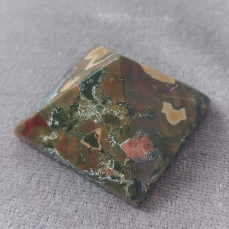 Wonderful UNAKITE JASPER PYRAMID Point Crystal Healing MINERALS Chakra A+-2