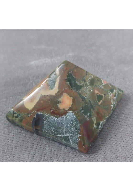 Wonderful UNAKITE JASPER PYRAMID Point Crystal Healing MINERALS Chakra A+−3