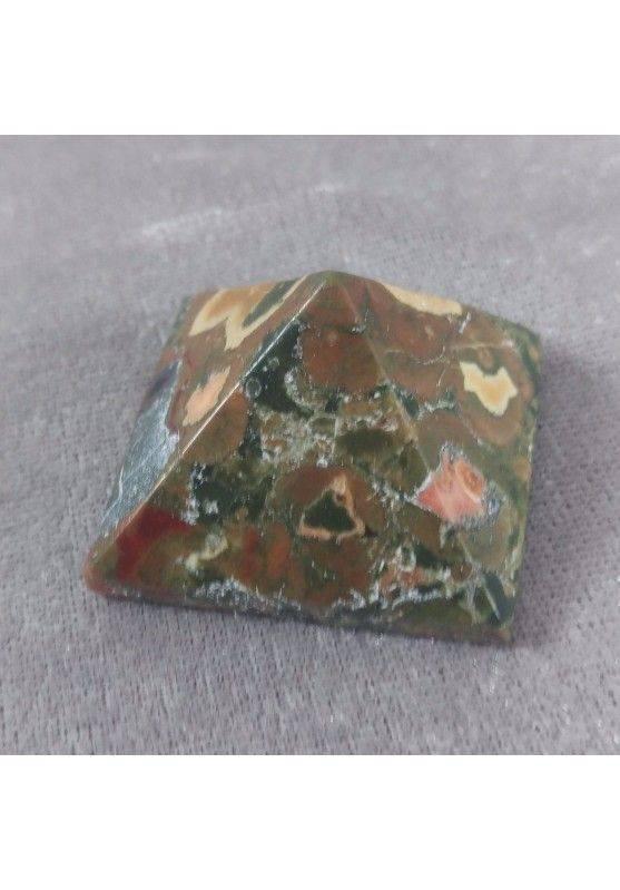 Wonderful UNAKITE JASPER PYRAMID Point Crystal Healing MINERALS Chakra A+-4