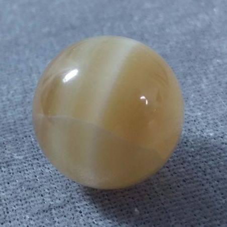 Mini Sphere YELLOW CALCITE Ball Crystal Healing Massage MINERALS Tumbled Stone−3