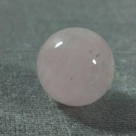 Mini Sphere in Rose Quartz Ball Crystal Healing MINERALS LOVE Sessualità Zen−3