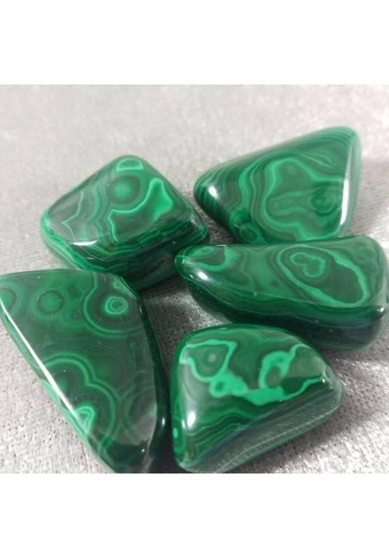 Malachite MINERALS Tumbled Stone 1° Scelta A++[ Tumbled Malachite Stone A++ Quality]-1
