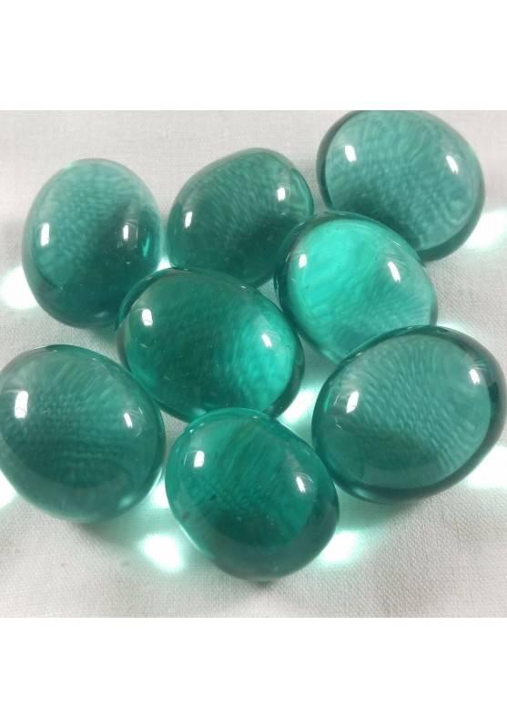 Aqua Blue OBSIDIAN Green Tumbled Ston& True Rare Crystal Crystal Healing MINERALS-1