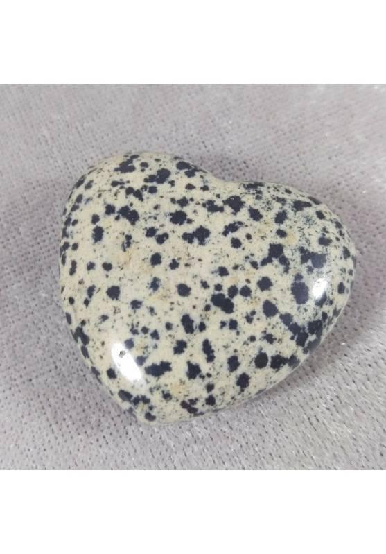 CUORE in DIASPRO DALMATA Dalmatina AMORE Cristalloterapia Chakra Reiki Minerali-1