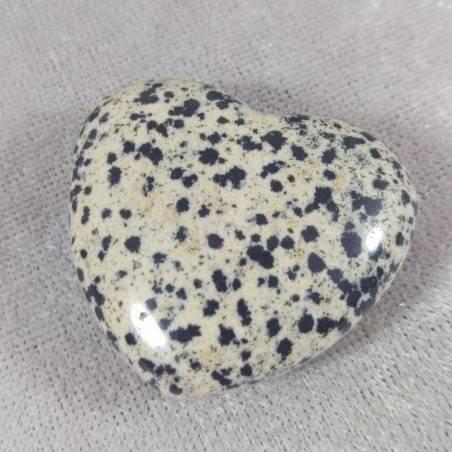 HEART in Dalmatian JASPER Dalmatine LOVE Crystal Healing Chakra Reiki MINERALS-1