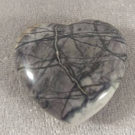 HEART in Fossil Petrified Wood Massage LOVE Crystal Healing Gift Idea in VALENTINE'S DAY-2