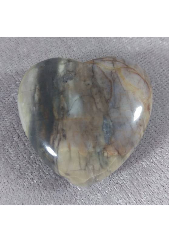 HEART in Fossil Petrified Wood Massage LOVE Crystal Healing Gift Idea in VALENTINE'S DAY-4