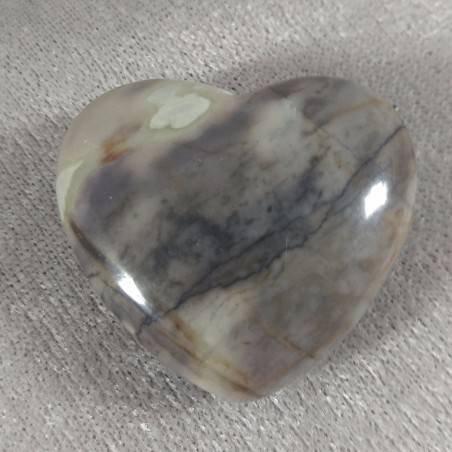 HEART in Fossil Petrified Wood Massage LOVE Crystal Healing Gift Idea in VALENTINE'S DAY-5