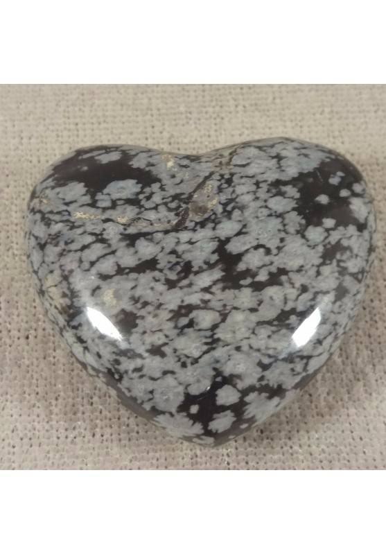 HEART in Snow Obsidian Massage LOVE Crystal Healing Chakra Reiki-1