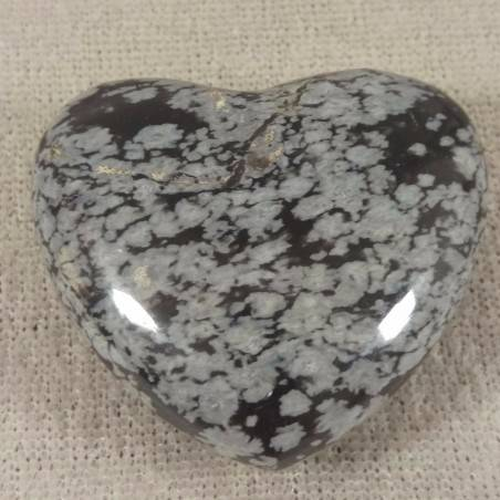 HEART in Snow Obsidian Massage LOVE Crystal Healing Chakra Reiki-1