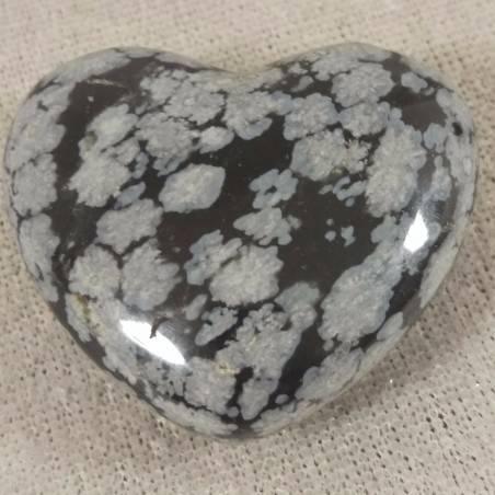 HEART in Snow Obsidian Massage LOVE Crystal Healing Chakra Reiki-2
